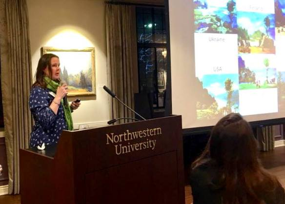 I was one of the keynote speakers at the dinner for the Presidential Fellows at Northwestern University in January.